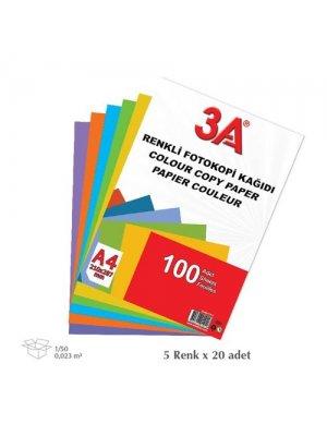 3A Renkli Fotokopi Kağıdı 100'lü