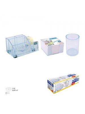 Ark Ofis Seti No 5 (Kalemlik+Plastik Bloknot+Silindir Kalemlik)