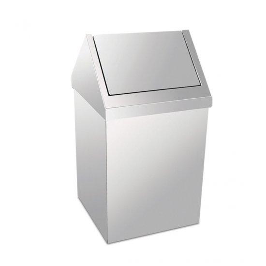 Krom Paslanmaz Çöp Kovası Klikli 54 LT