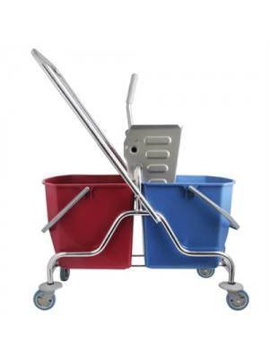 Çift Kovalı Krom Temizlik Seti Çelik Presli