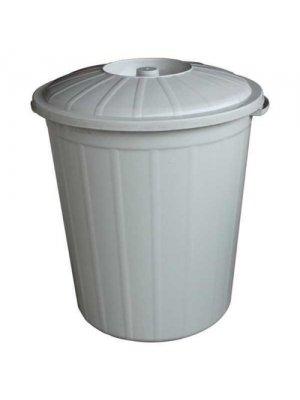 Çöp Kovası Kapaklı 50 LT Gri