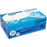 Dolphin Mavi Nitril Eldiven Pudrasız Küçük Boy 100'lü Paket