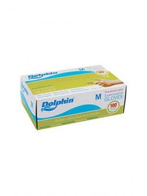 Dolphin Pudralı Lateks Eldiven Orta Boy 100'lü Paket