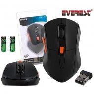 Everest Mouse Kablosuz SM-440 Usb Siyah 2.4 Ghz 1200 Dpi