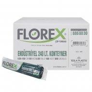 Florex 510 Endüstriyel Konteyner Çöp Poşeti 240 L 120 x 150 cm 5 Adet x 20 Rulo - Siyah