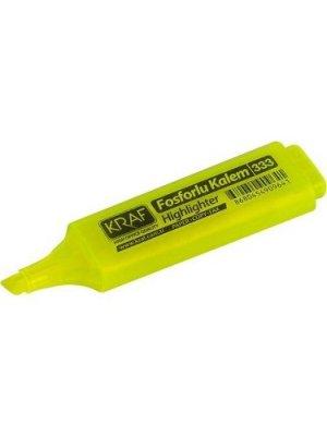 Kraf Fosforlu Kalem 333 Sarı