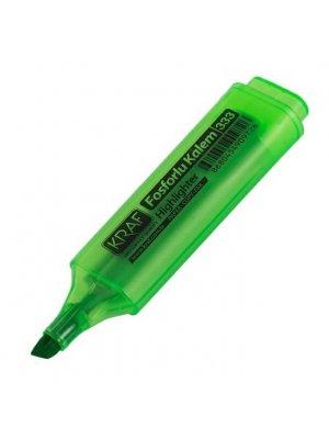 Kraf Fosforlu Kalem  Yeşil 333