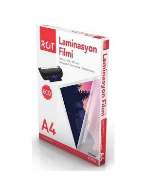 Rot Laminasyon Filmi A4 125 Micron 100'Lü