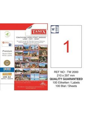 Tanex Laser Etiket TW-2000 210x297 mm