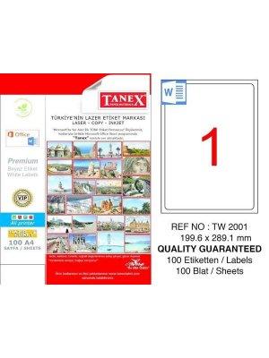 Tanex Laser Etiket TW-2001 199.6x289.1 mm
