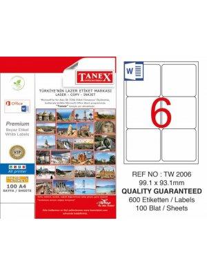 Tanex Laser Etiket TW-2006 99.1x93.1 mm