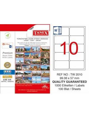 Tanex Laser Etiket TW-2010 99.06x57 mm