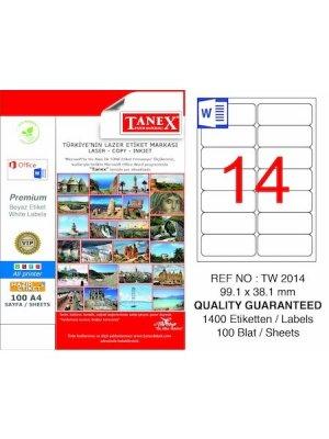 Tanex Laser Etiket TW-2014 99,1x38,1 mm