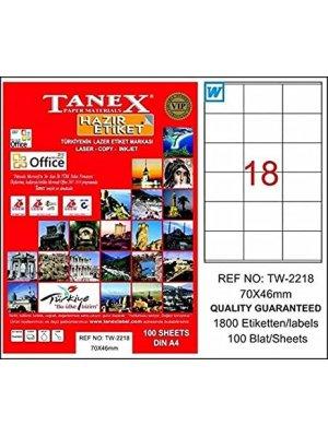 Tanex Laser Etiket TW-2218 70x46 mm