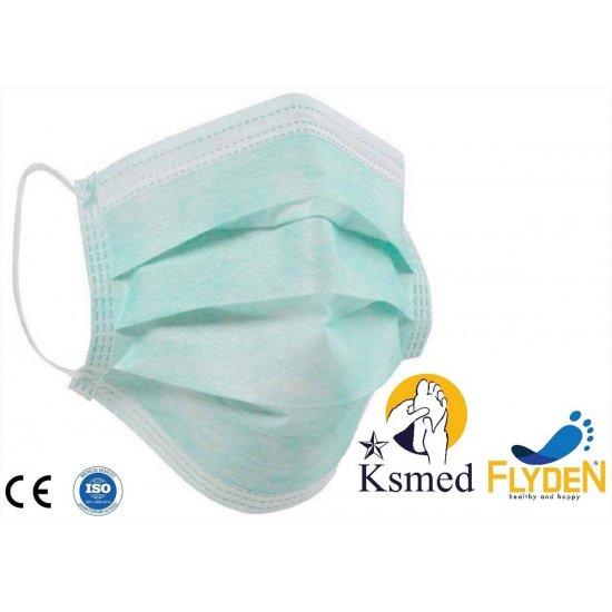 Flyden 3 Katlı Cerrahi Maske 50 Li Kutu