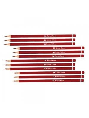 3A Kırmızı Kurşun Kalem 12'li