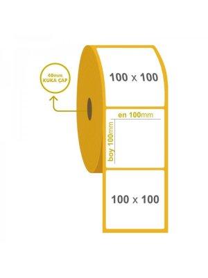Eco Termal Barkod Etiketi 100 mm x 100 mm  (2 Rulo )