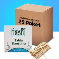 Fresh Up Ahşap Çay Karıştırıcı 500 Lü (25 Paket )
